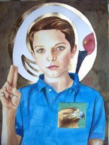 Saint portrait by artist Sara Drescher Braswell 2010