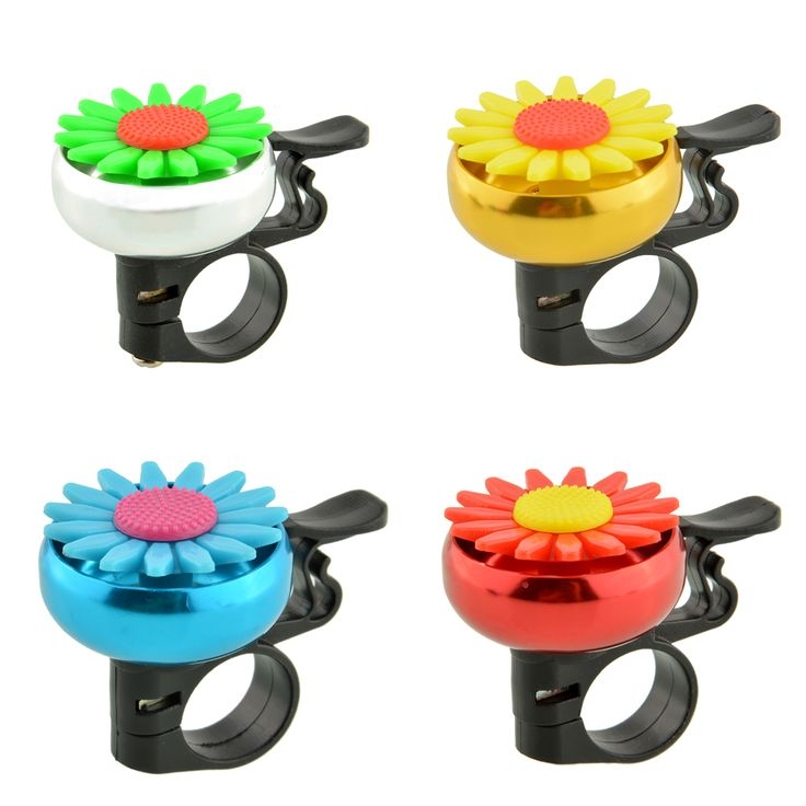 Cuty Flower Bike Bicycle Cycling Handlebar Ring Horn Sound Bell Alarm Metal Multicolor Useful Safety