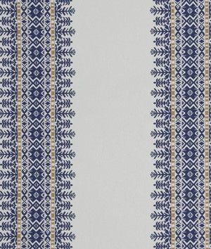 Robert Allen Aztec City Cobalt Fabric - $83.55   onlinefabricstore.net