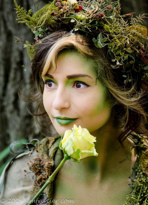 Voice of Nature - compost-pile: some photos as me as Dryad! sorry...