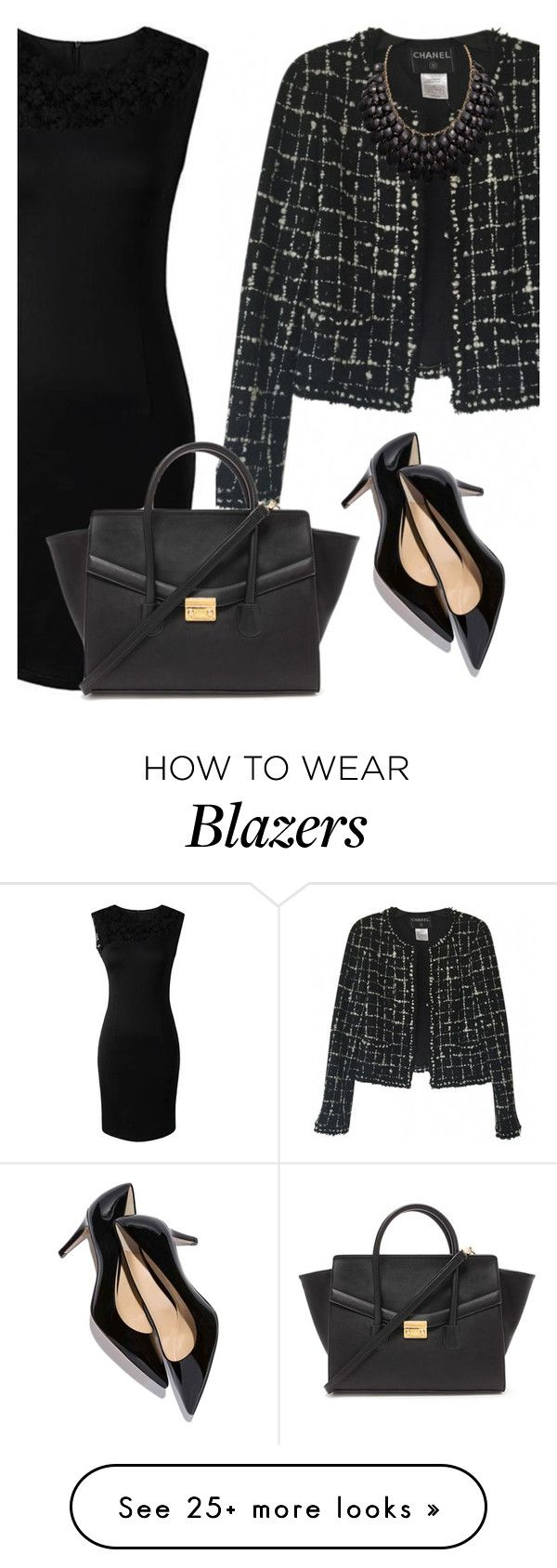 """business look - inspiration"" by monika1555 on Polyvore featuring Chanel, Forever 21, women's clothing, women, female, woman, misses, juniors, business and inspiration"