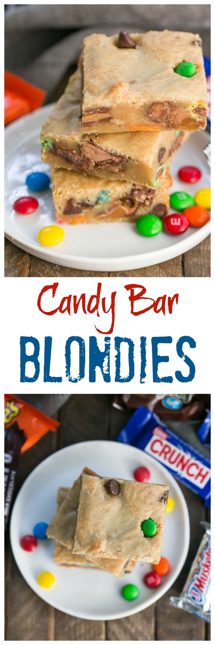 Candy Bar Blondies #SundaySupper