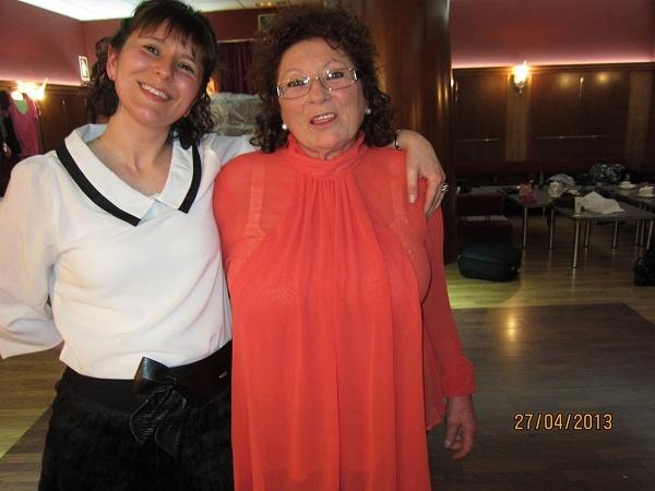 """Mi madre y yo,las """"jefisimas""""en el previo del desfile de moda en el Hotel Oca Galatea,vestidas de Siempreesviernes claro. www.susomoda.com"""
