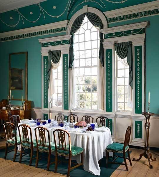George & Martha Washington's dining room at Mt. Vernon