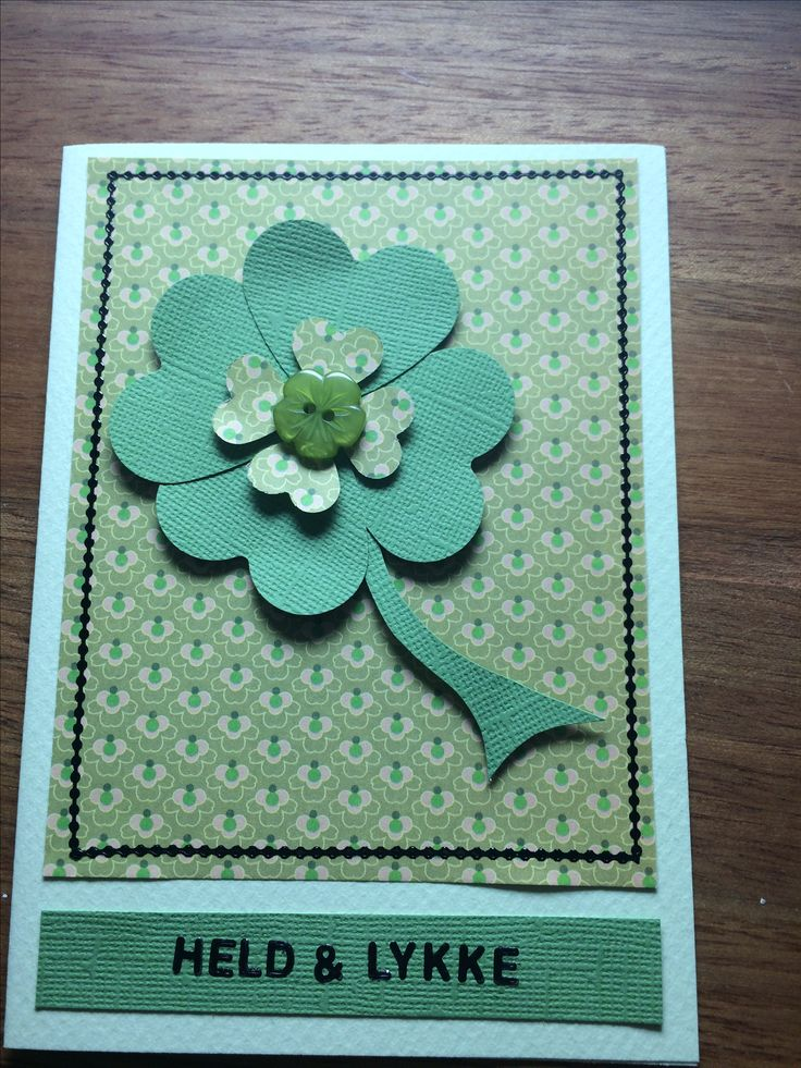 Held og lykke / good luck Firkløver Kort / card