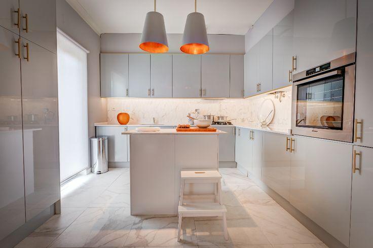 Orange Kitchen, Ceramic Tile Backsplash and Burnt Orange Kitchen