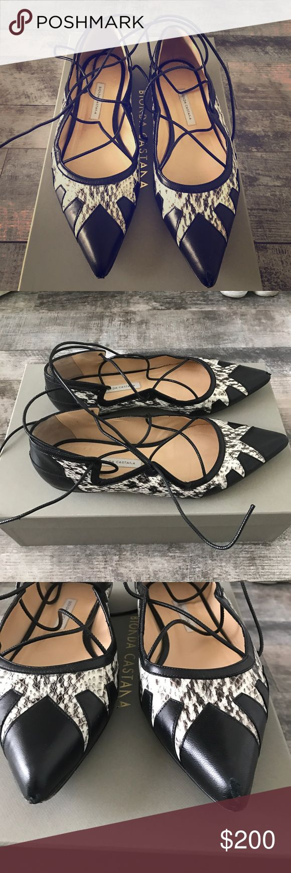 """Bionda Castana """"Geraldine"""" flats 37.5 Excellent condition. Minor scuffing of the leather in front of the shoes (the pointed part as seen in the pictures). Bionda Castana Shoes Flats & Loafers"""