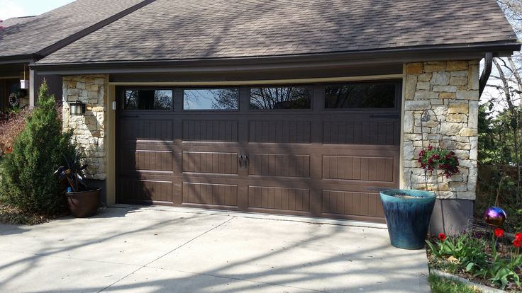 Gallery collection clopay garage doors with windows double for Clopay garage door colors