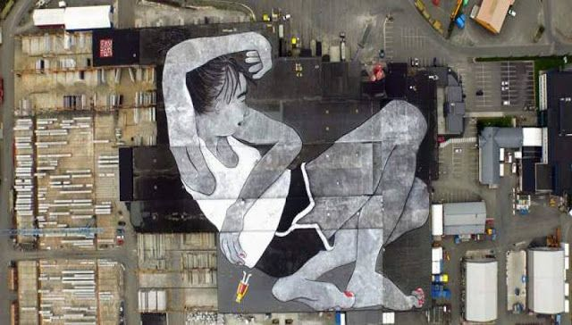 Η τοιχογραφία θα είναι ορατή από αεροπλάνα που θα απογειώνονται από το κοντινό αεροδρόμιο Sola κ...