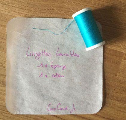 Tuto pour apprendre à faire des lingettes lavables...