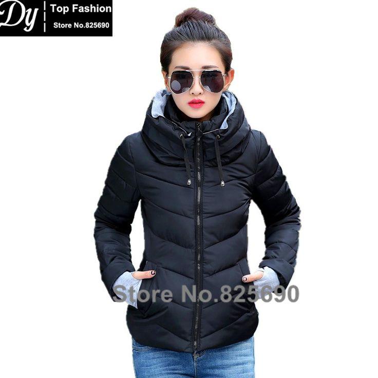 New Wadded Winter Jacket Women Cotton Short Jacket Fashion 2017 Girls Padded Slim Plus Size Hooded Parkas Stand Collar Coat