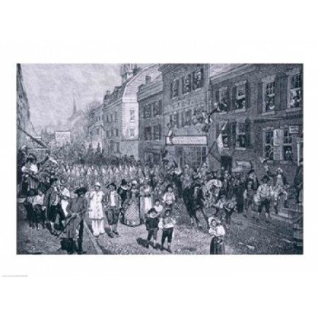 Carnival at Philadelphia illustration from The Battle of Monmouth Court House Canvas Art - Howard Pyle (24 x 18)
