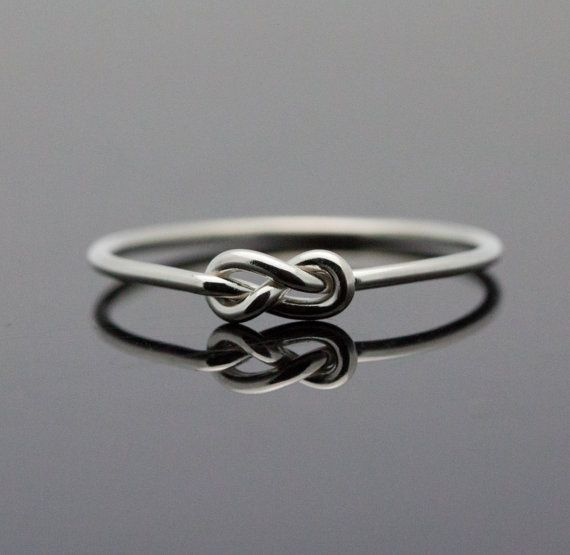 Infinity ring. Sterling Silver knot ring. Best door IndulgentDesigns, $25.00