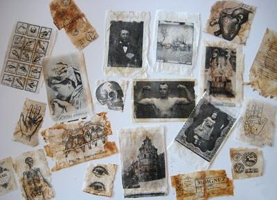 Mixed Media - Tutorial for printing on tea bags. this might work for minis, got to try it