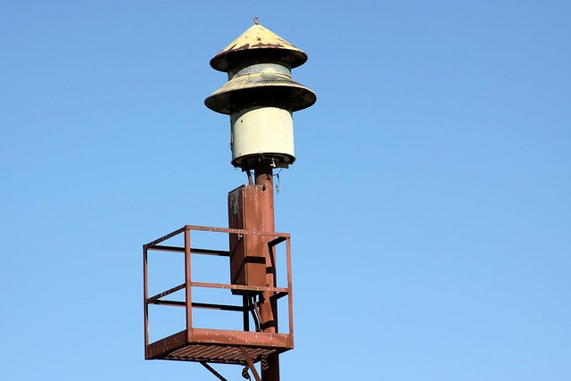"Federal Signal 5, codename ""Bird-house."" One of hundreds still seen in the San Fernando Valley."