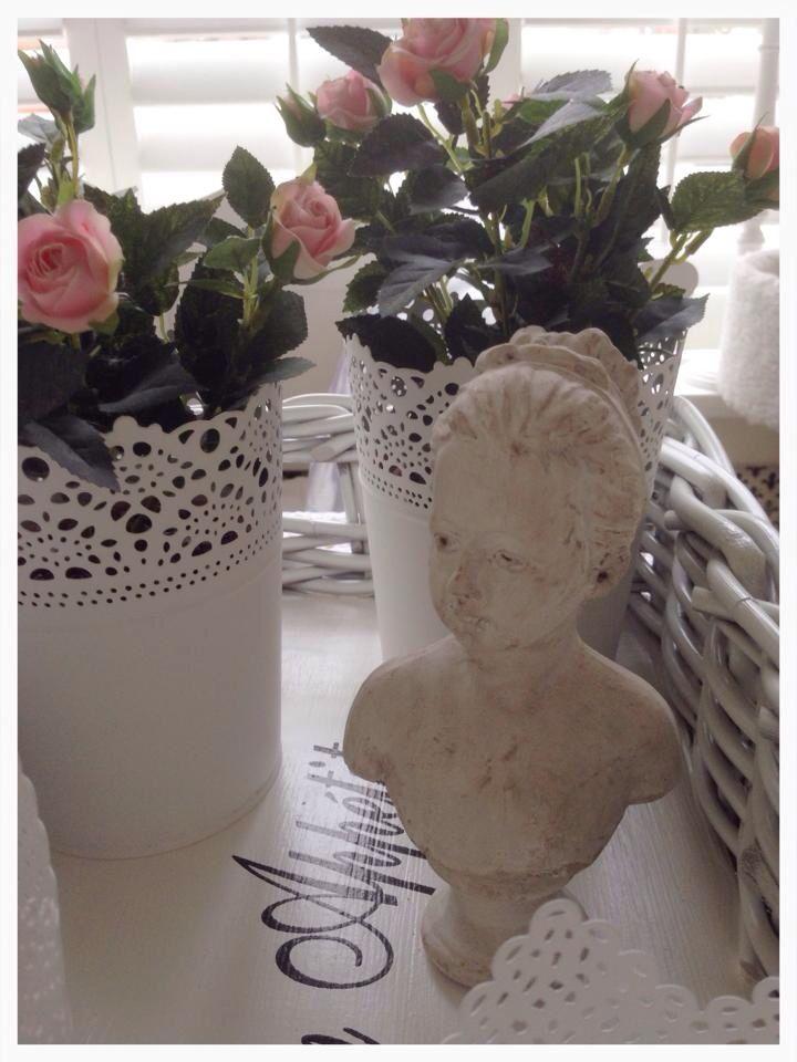 Borstbeeld met roosjes