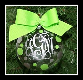 Our most popular monogrammed Christmas ornament for 3 years in a row!!