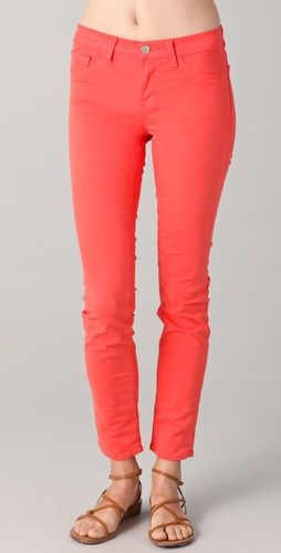I'm obsessed with these J Brands! The tangerine color is divine!
