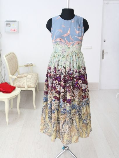 5e6393b0be5 Длинное летнее шелковое платье