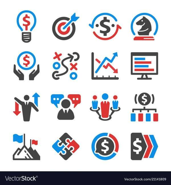 17 Business Strategy Icon Icon Set Business Strategy Icon