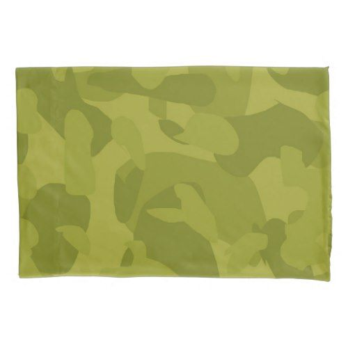 Camouflage pattern - olive/grass green pillow case