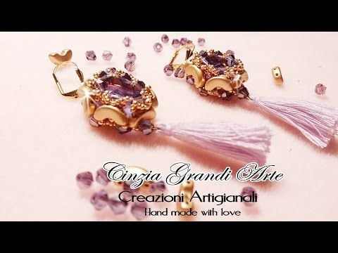 DIY - Perline Arcos Incastonatura modulo anello bracciale orecchino - YouTube