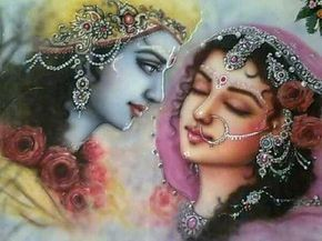 """""""Ghan Mein Chhip Rahi Jo Damni….."""" song by the famous singer,Jagjit Singh,means-Just like the radiance of Sun hides behind the new clouds,Radha is hiding behind Shri Krishna."""