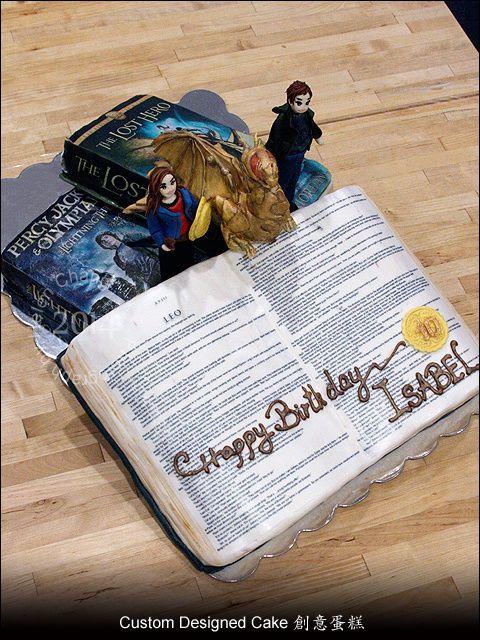 Percy Jackson Book Cake