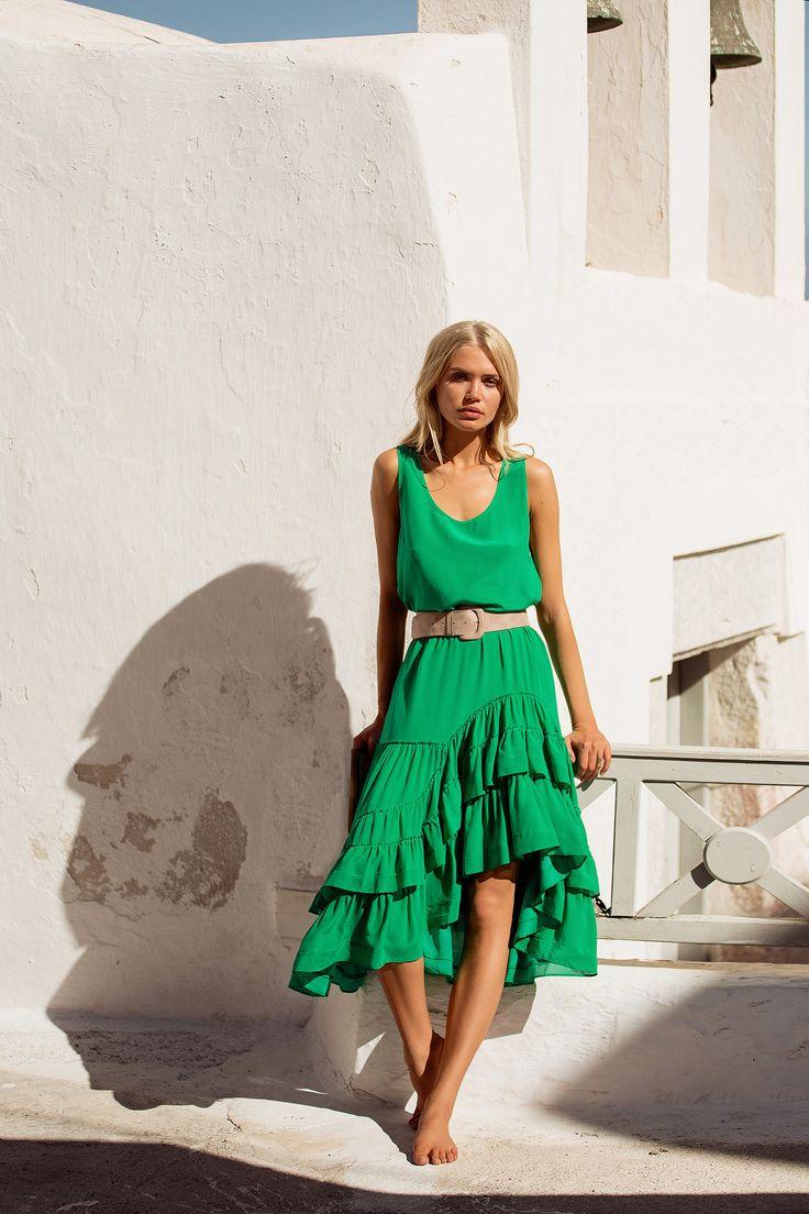 Mister Zimi | Green Silk Frida Jumpsuit