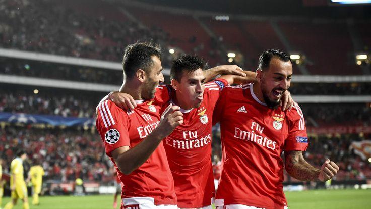 @Benfica Jonas, Nico Gaitán e Konstantinos Mitroglou #9ine