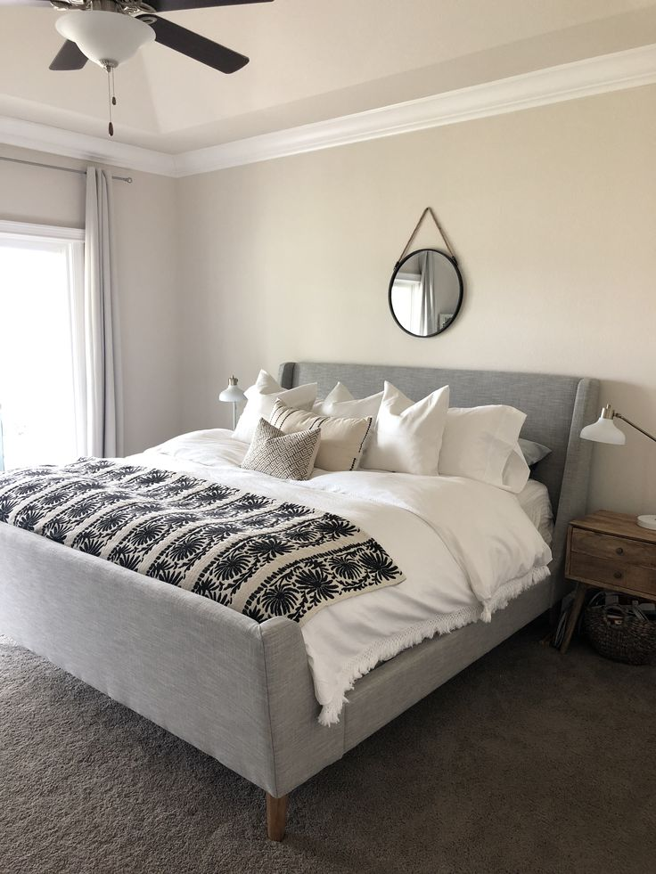 West elm upholstered sleigh bed Sleigh bed master