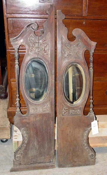 antique saloon doors. I would have this style replicated new, and with my own detail, in a lighter wood tone.