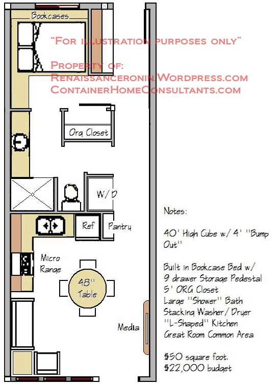 Single Container Home Plans