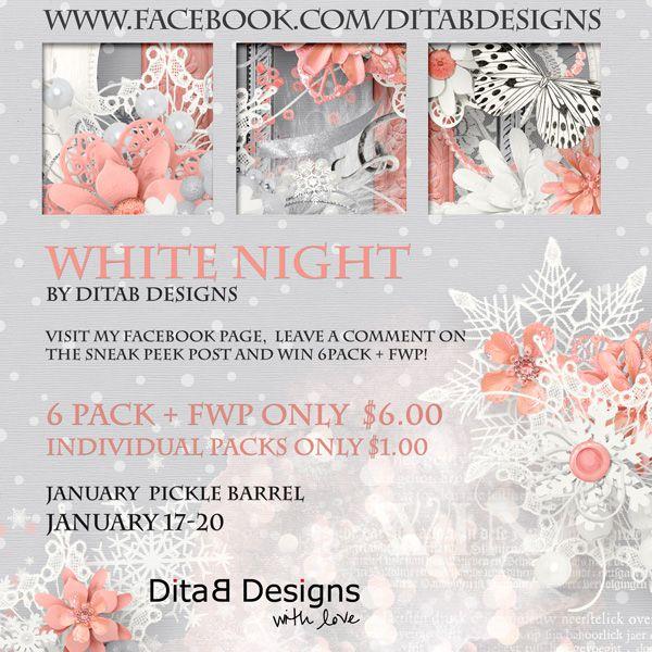 "DitaB Designs: Hi everyone,   January Pickle Barrel ""White Night..."