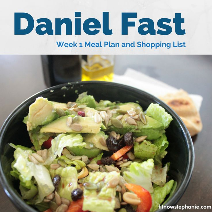 Recipes and shopping list for 7 days of Daniel Fast meals. Healthy eating and meal planning using Daniel fast guidelines.