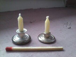 MINITATURE: Miniaturowe świeczniki - press buttons as candle holder
