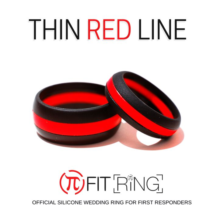 Thin Red Line Silicone Wedding Ring His & Hers Fit Ring ™  Buy Yours Now at  Www.ArthleticBrand.com  Great gift for Father's Day too Best Fathers Day Gift Not just a rubber ring! It's a lifestyle!