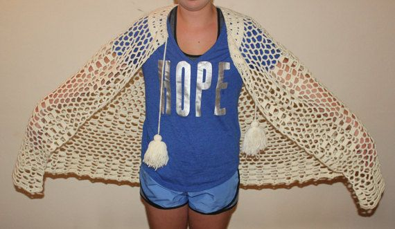 Crocheted BoHo Festival Poncho Womens OS by TheBestTreasureDepot
