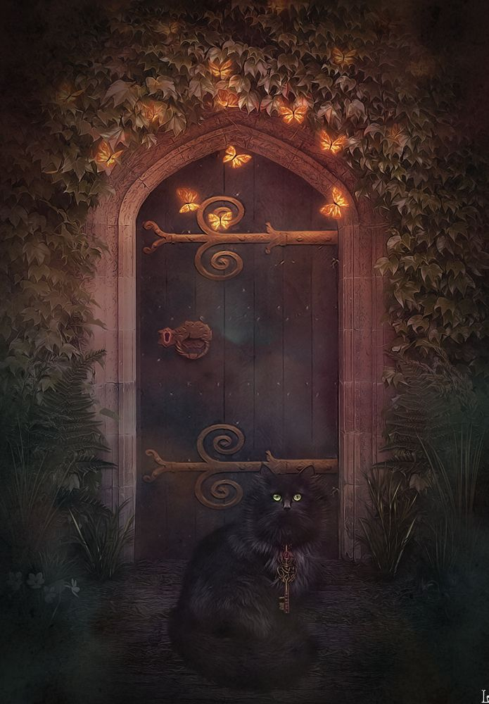 The Secret Door by NikulinaHelena on deviantART  Here Be Magic  Doors Art Fantasy art