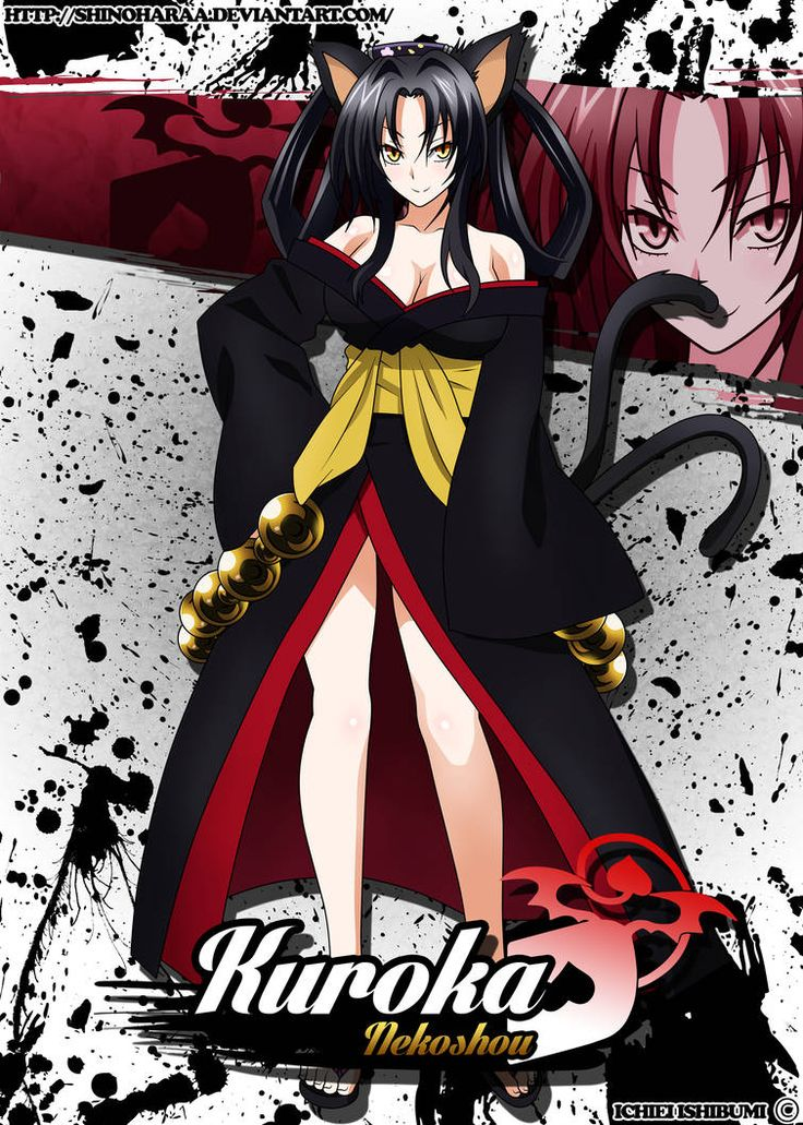 Kuroka by Shinoharaa Dxd, Highschool dxd, Anime high school