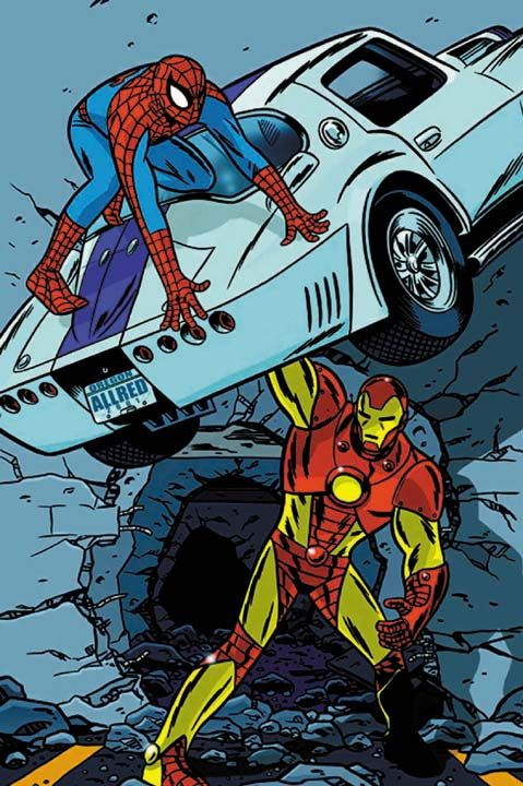Spider-Man vs Iron Man by Michael Allred