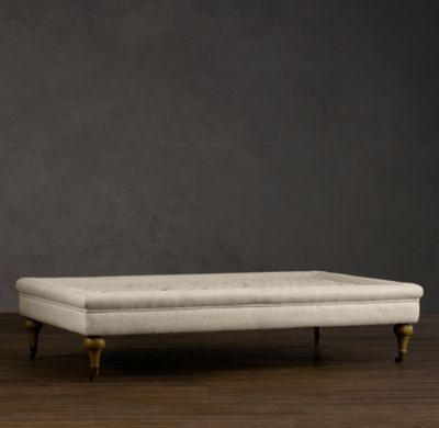 love tufted cocktail ottomans: Restoration Hardware, Ottomans Coffee Tables, Hardware Tufted, Texture Linens, Memorial Tables, Linens Weaving, Coff Ottomans, Ottomans Our Tufted, Ottomans Offer