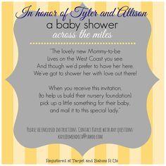Long distance baby shower invitation, virtual baby shower, military baby shower