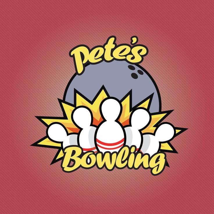 Pete's Bowling Logo - David Archbold  #graphicdesign #design #art #digital #aminated