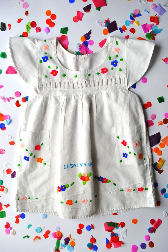 Vintage 'El Salvador' Toddler Dress