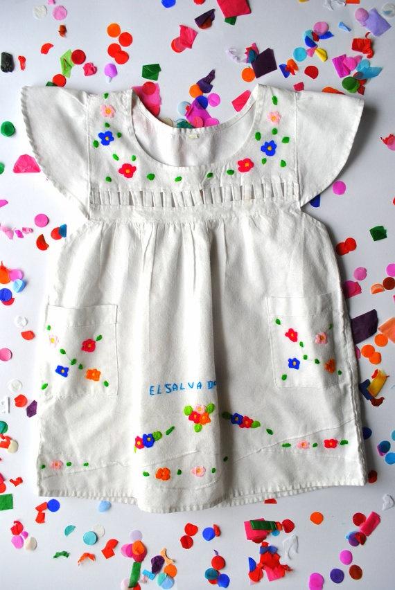 Vintage 'El Salvador' Toddler Dress From Kees & Me.: El Salvador, Kids Fashion, Fashionable Kids Clothes, Vintage Baby Dress, Dresses For Kids, Toddler Dress