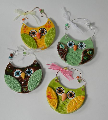 slab owls - camp ideas! These look familiar, but different...Really cute and love their textures.