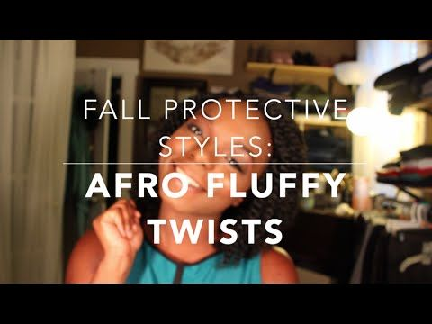 Fall Protective Styles for Natural Hair: Afro Fluffy/Puffy Twists Tutorial  Great protective style for shorter hair or ladies that love the two strand twist look but do not have very thick hair.  #natural #hair #naturalhair #twists #shorttwists #mediumtwists #fluffytwists #puffytwists #havannatwists #havanna #marleytwists #marley #senegalesetwists #senegalese #protective #styles #protective styles #braids