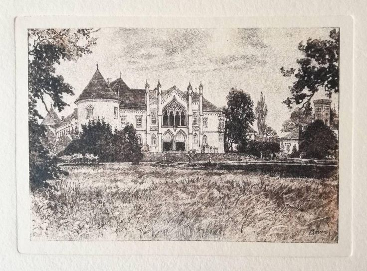 Excited to share the latest addition to my #etsy shop: Castle in Transylvania, hand-pulled etching on handmade paper, dry stamp / emboss, vintage art #printmaking #engraving #vintageetching #castleprint http://etsy.me/2nNSURd