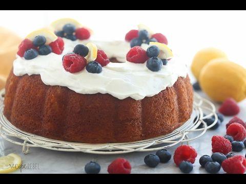 Easy Greek Yogurt Lemon Bundt Cake Recipe + VIDEO